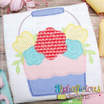 Floral Bucket-Triple Bean - Alphalicious Designs