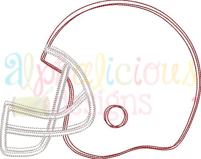 Football Helmet- Scribble - Alphalicious Embroidery Designs