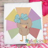 Geometric Turkey with Bow - Sketch