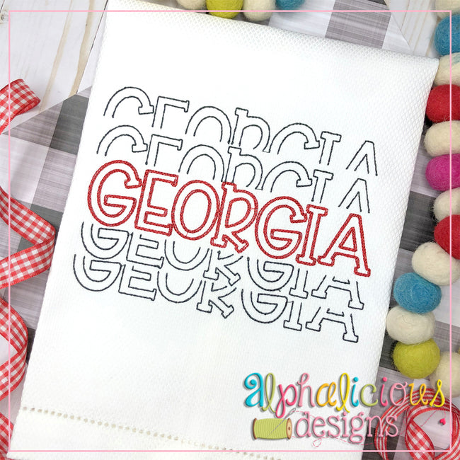 Georgia Stacked-Scribble