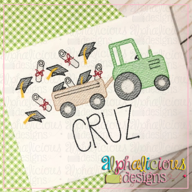 Gradation Farm Tractor-Sketch - Alphalicious Designs