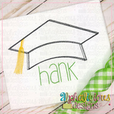 Graduation Hat with Tassel-Scribble