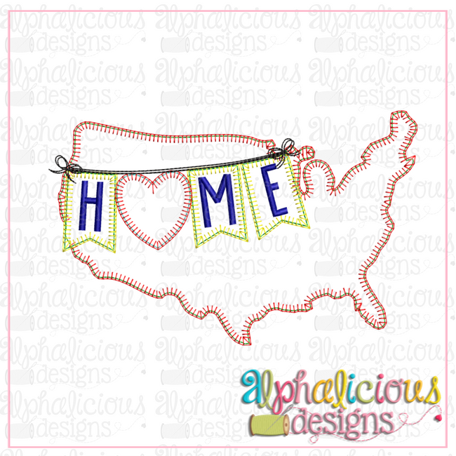 Home USA-Blanket - Alphalicious Designs
