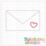 Happy Heart Envelope-Zig Zag - Alphalicious Designs
