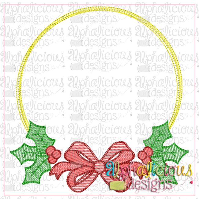 Holly Frame - Alphalicious Embroidery Designs