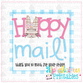 Hoppy Mail-Pink and Blue-Easter Printable Tags