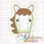 Horse Ornament-ITH Ornament - Alphalicious Embroidery Designs