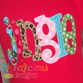 Jingle Applique Word-ZigZag