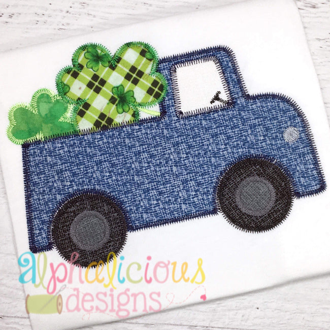 St Patrick's Day Truck- ZigZag - Alphalicious Embroidery Designs