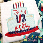 Its My Birthday Cake-Zig Zag - Alphalicious Designs