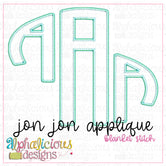 Jon Jon Applique Monogram Font-Blanket