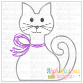 Kitty with Bow- Scribble