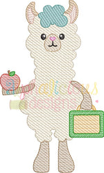 Learning Llama 1-Sketch - Alphalicious Embroidery Designs