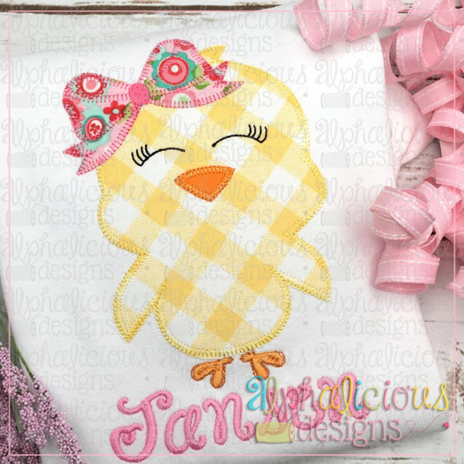 Little Chick with Bow-Blanket