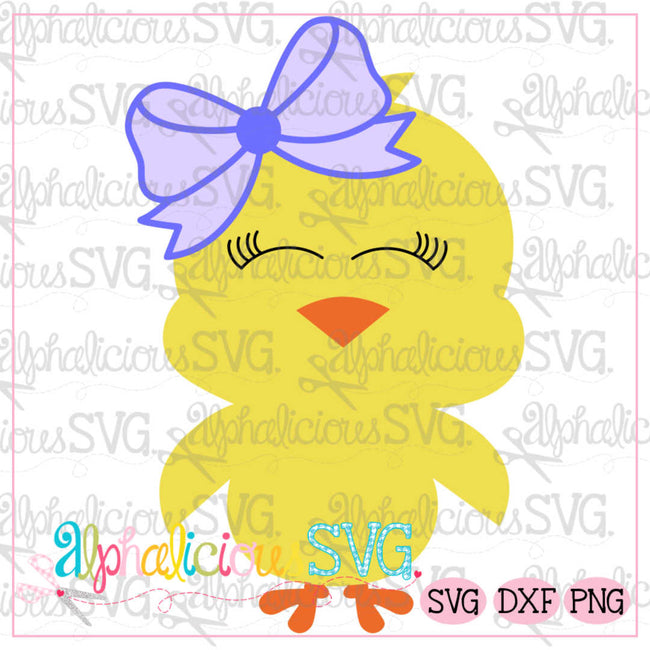 Little Chick with Bow -SVG