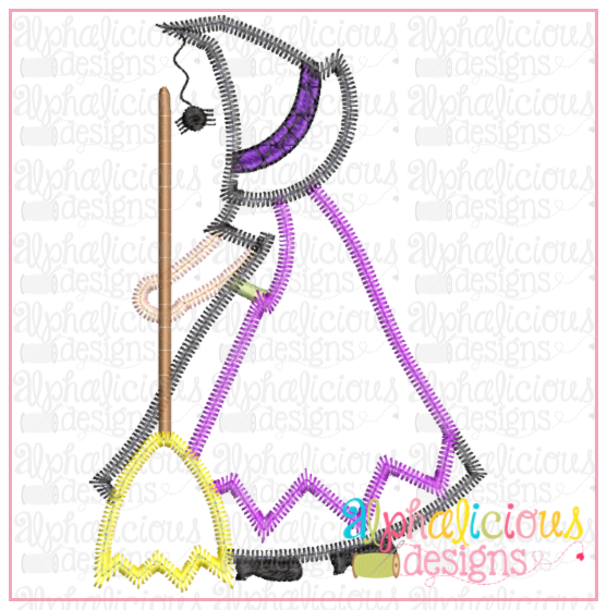 Little Witch- ZigZag - Alphalicious Embroidery Designs