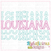 Louisiana Stacked-Scribble