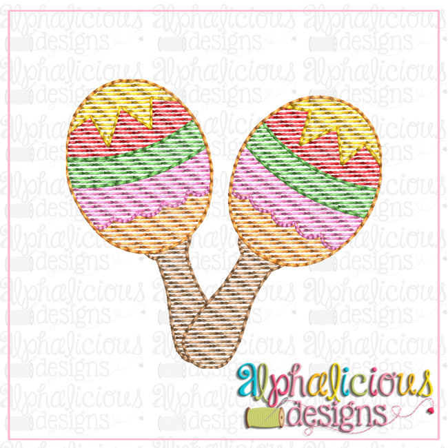 Maracas-MINI-Sketch - Alphalicious Designs