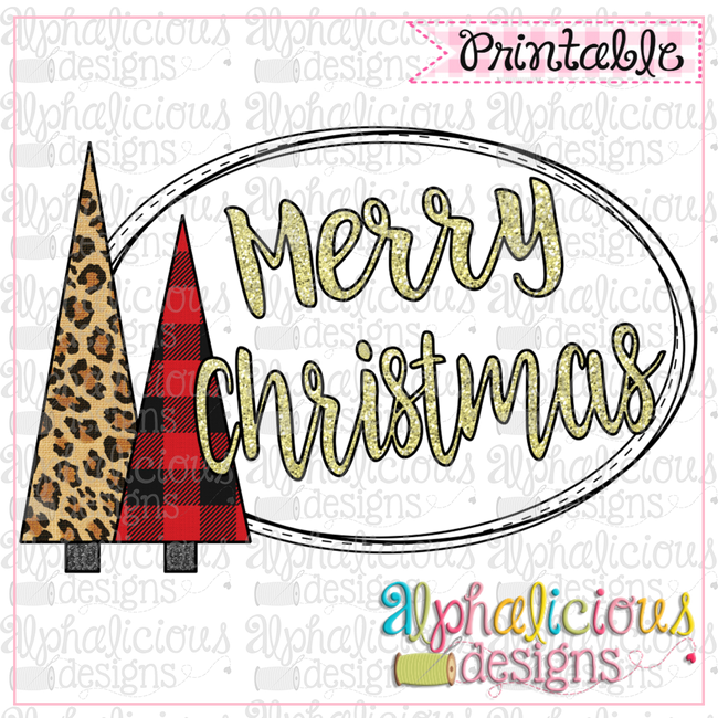 Merry Christmas-Buffalo-Printable - Alphalicious Designs
