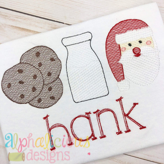 Milk and Cookies-Sketch - Alphalicious Embroidery Designs