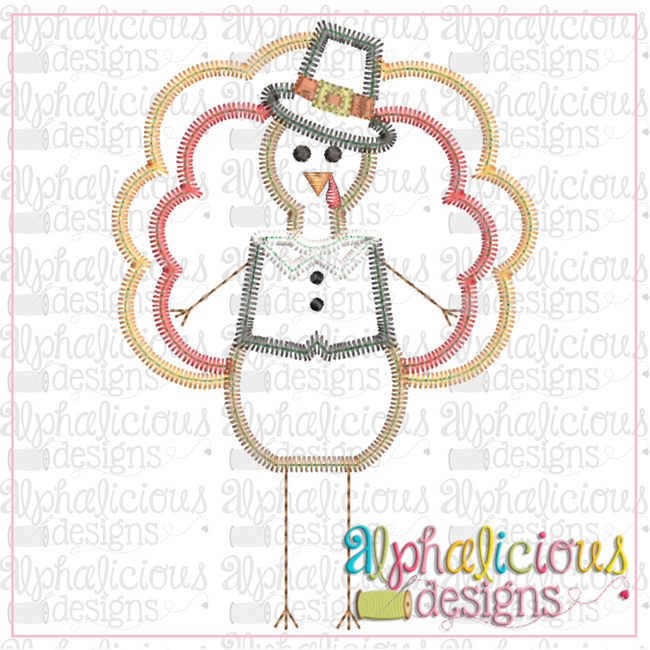 Mr Long Leg Turkey-ZigZag - Alphalicious Designs