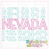 Nevada Stacked-Scribble