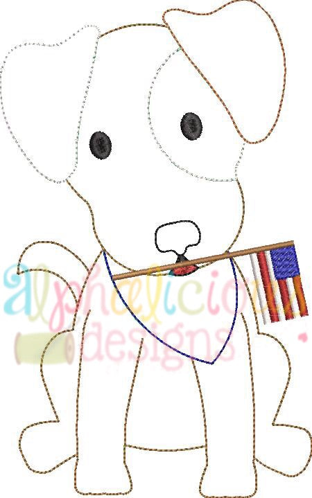 Patriotic Pup-Triple Bean - Alphalicious Designs