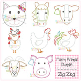 Farm Animal Bundle-ZigZag