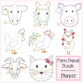 Farm Animal Bundle-Blanket