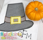 Pilgrim Hat-Sketch - Alphalicious Embroidery Designs