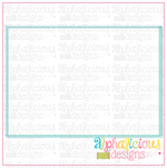 Plain Box- Scribble - Alphalicious Embroidery Designs