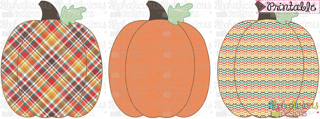 Pumpkin Trio-Printable - Alphalicious Designs