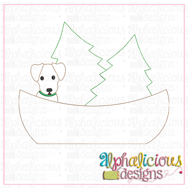 Pup in a Boat-Triple Bean - Alphalicious Designs