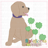 Pup with Shamrocks-Sketch