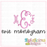 Evie Monogram Embroidery Font