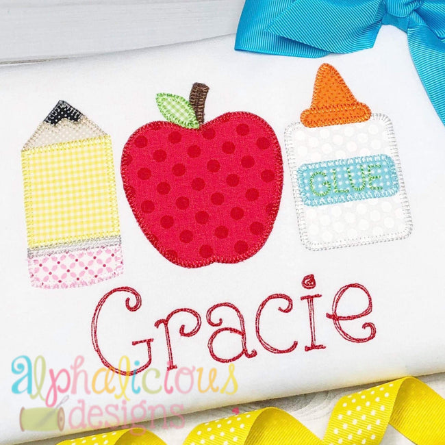 Back To School Bundle-ZigZag - Alphalicious Embroidery Designs