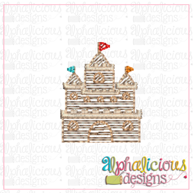 Sand Castle -MINI-Sketch - Alphalicious Designs