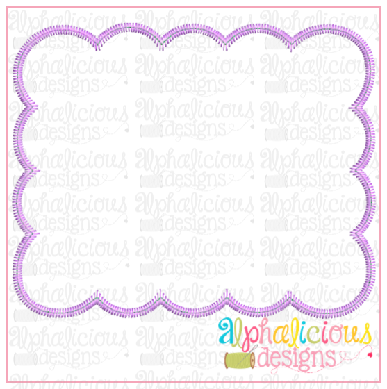 Scallop Box-ZigZag - Alphalicious Embroidery Designs