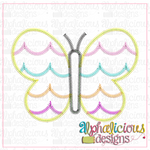 Scallop Butterfly-Zig Zag - Alphalicious Designs