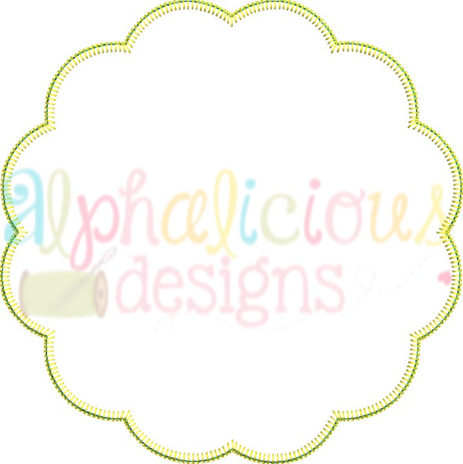 Scallop Frame- Blanket - Alphalicious Embroidery Designs