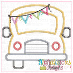 School Bus with Bunting-ZigZag