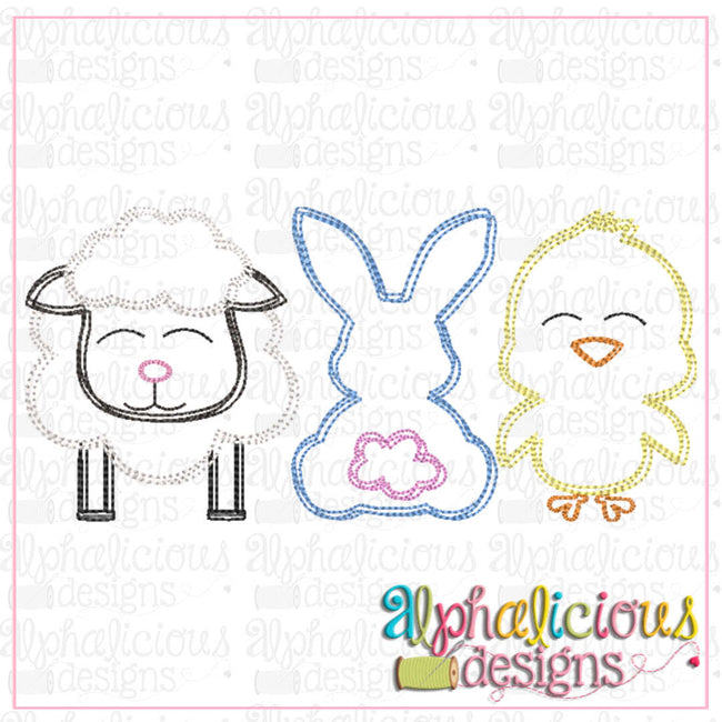 Sheep-Bunny-Chick-Scribble