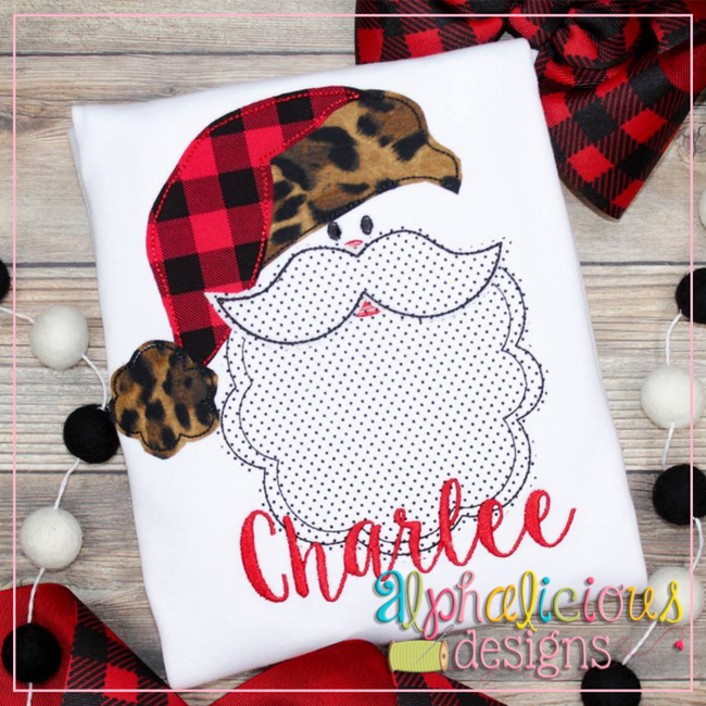 Simple Santa-Triple Bean - Alphalicious Embroidery Designs