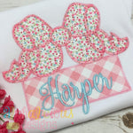 Southern Girl Applique Bow-ZigZag - Alphalicious Embroidery Designs
