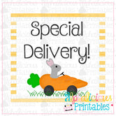 Special Delivery-Yellow-Printable Tags