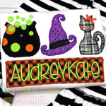 Spooky Night Three In A Row-Applique - Alphalicious Embroidery Designs