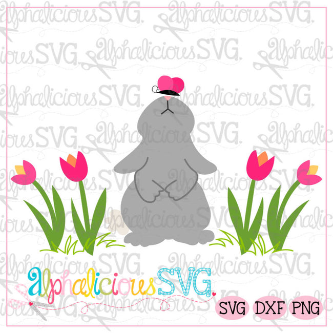 Spring Rabbit with Butterfly-SVG - Alphalicious Designs