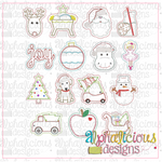 In The Hoop Christmas Ornament Bundle - Alphalicious Designs