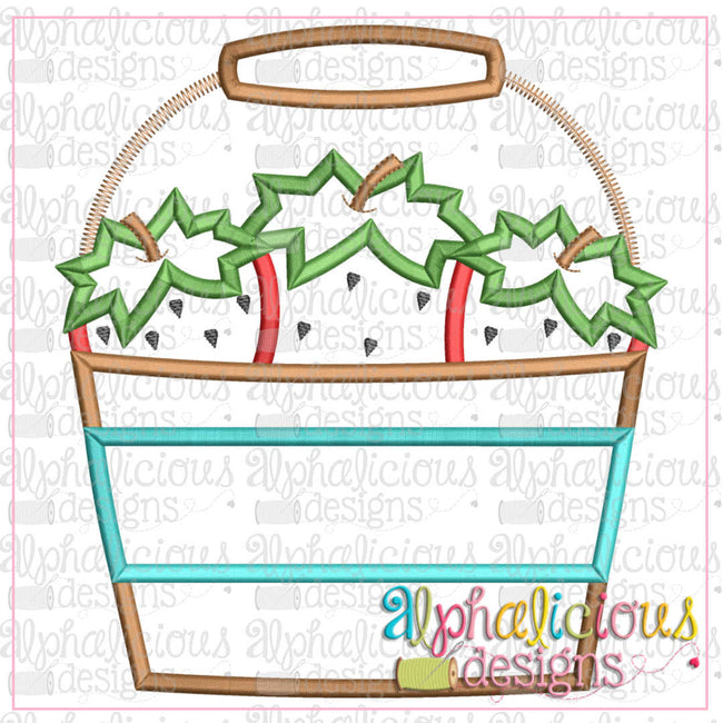 Strawberry Bucket- Satin - Alphalicious Designs