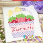 Strawberry Bucket with Bow-ZigZag - Alphalicious Designs